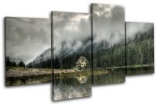 Mountan Lake House Landscapes - 13-2227(00B)-MP04-LO